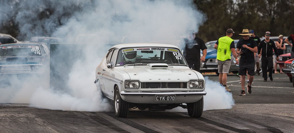 370ci Ford Capri runs nines at Drag Challenge