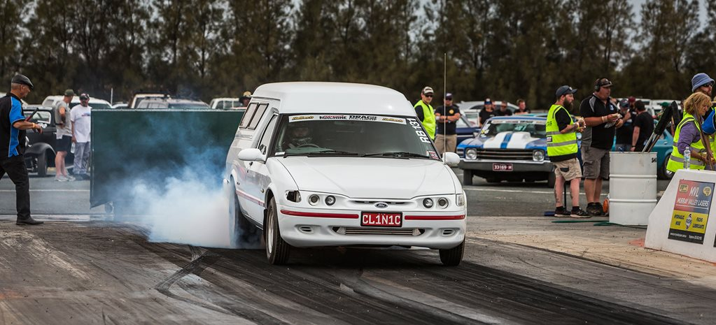 10-second Barra-powered XH pano does Drag Challenge in style