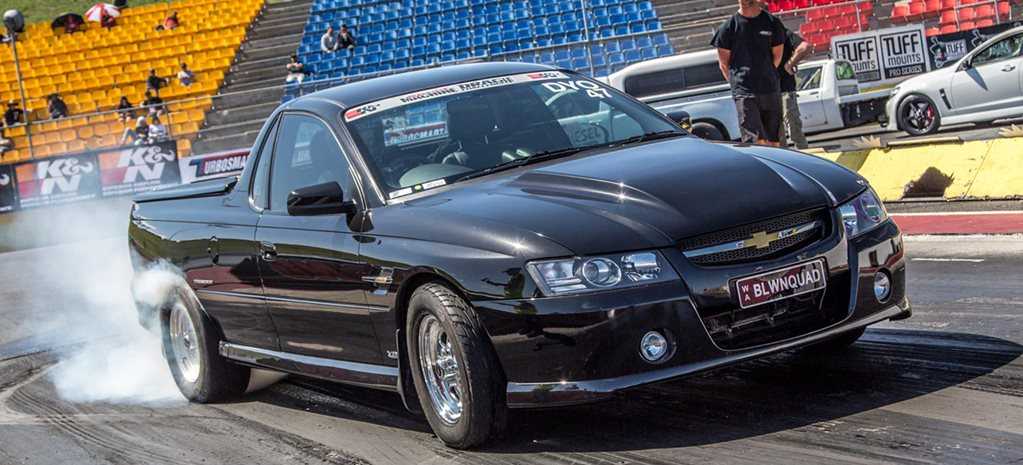 600hp Holden VZ SS ute travels 4200km to compete in Drag Challenge