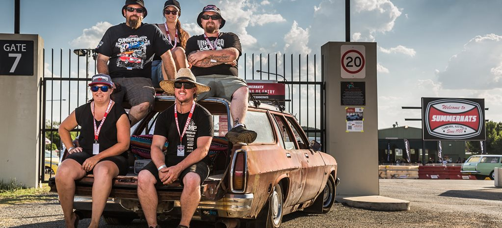 Rusty HJ wagon gets roadtripped from Perth to Canberra for Summernats 32