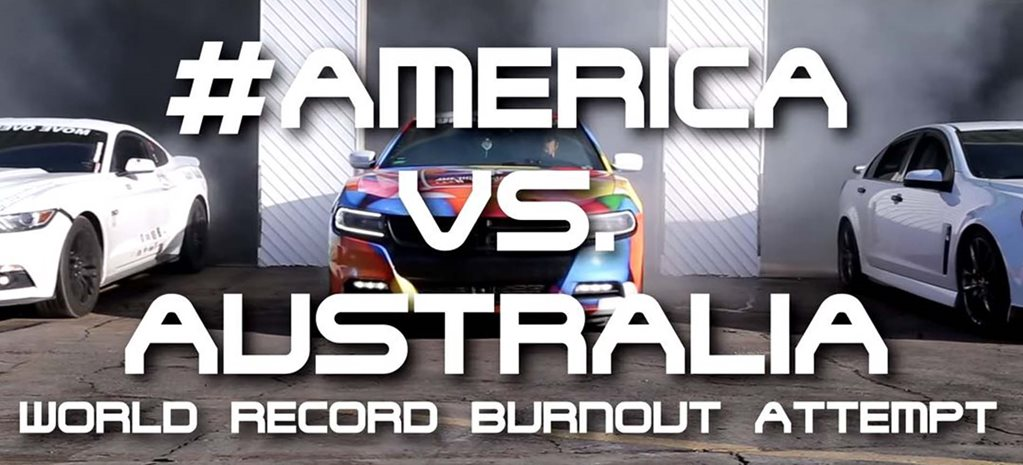 Americans to attempt biggest burnout world record - Video