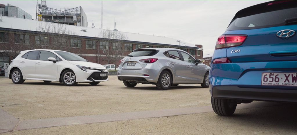 WhichCar TV Episode 1: Toyota Corolla v Hyundai i30 v Mazda 3
