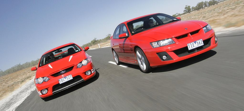 All Aussie Showdown 2005 HSV Clubsport vs FPV Falcon GT feature