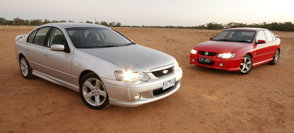 All Aussie Showdown 2005 Holden Commodore SV6 vs Ford Falcon XR6 feature