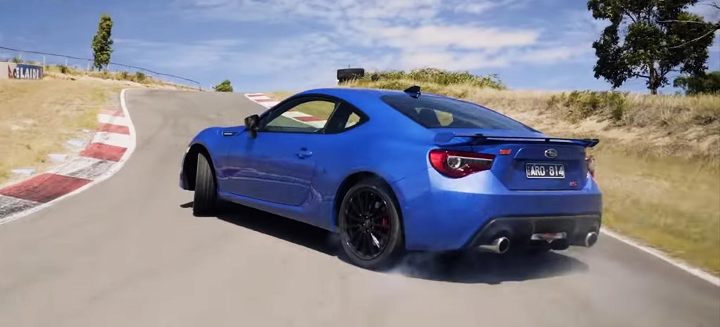 Warren Luff drifts a Subaru BRZ Bridgestone news