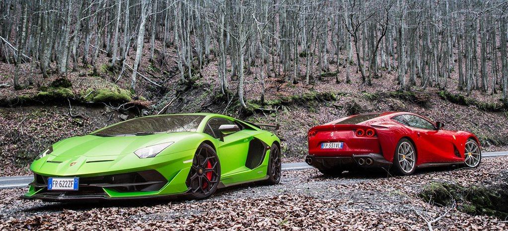 2019 Lamborghini Aventador SVJ vs Ferrari 812 Superfast