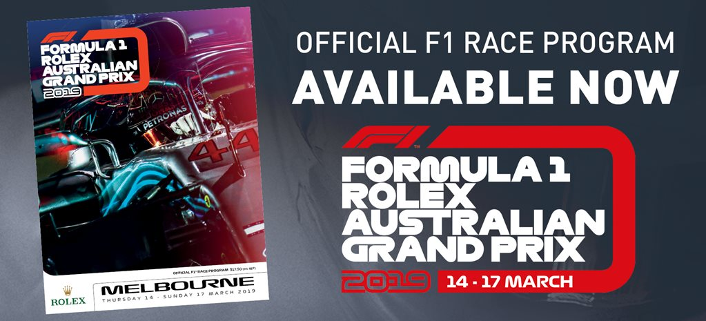 2019 Formula 1 Australian Grand Prix official program