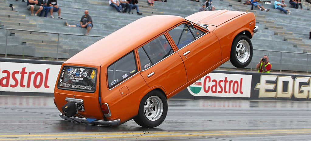 Eight-second Datsun 1200 wagon prepares for Drag Challenge Weekend 2019