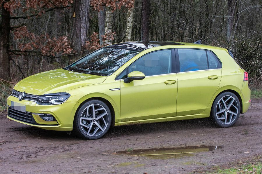 2020 volkswagen golf caught undisguised