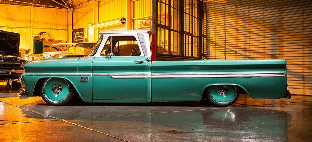 Slammed LS3-powered 1966 Chevrolet C10 pick-up