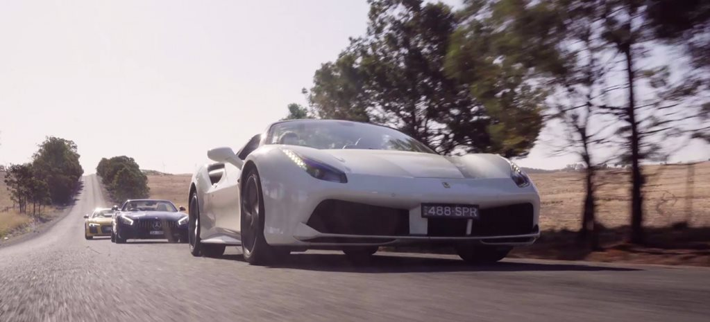 Ferrari 488 Spider vs Audi R8 Spyder vs Mercedes-AMG GT Roadster comparison