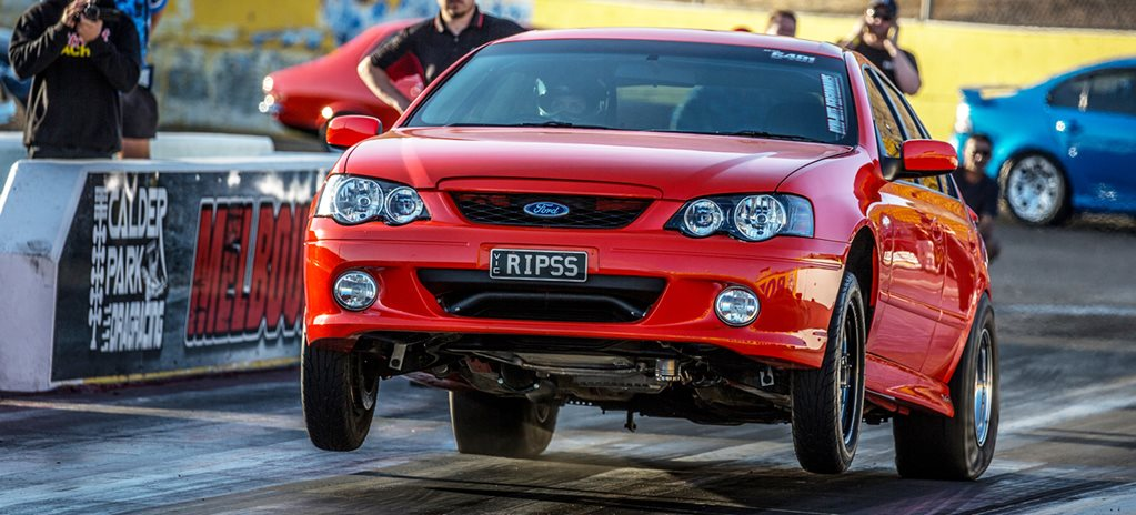 Street cars at Calder Park drags – Video