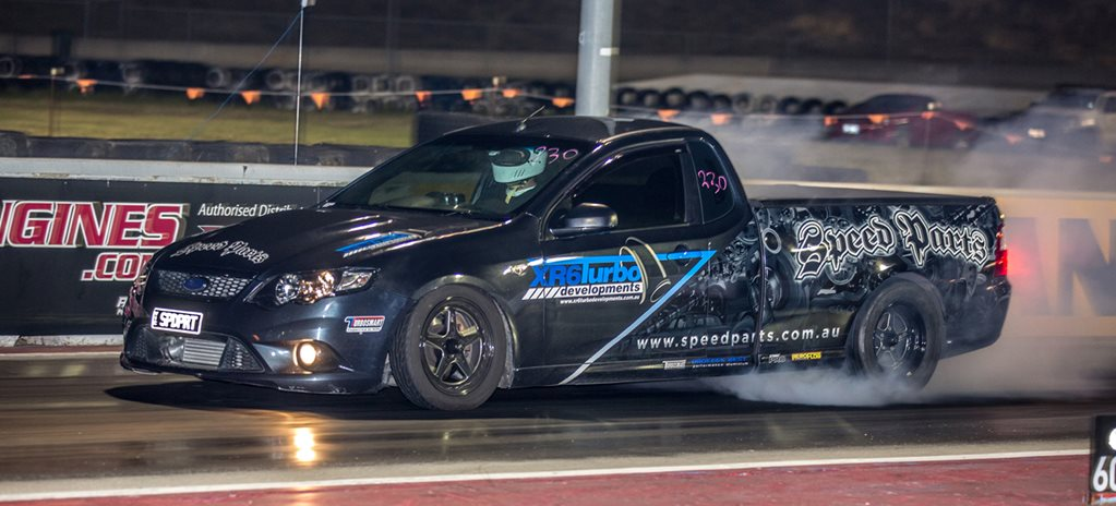 Bubba Medlyn races the XR6 Turbo Developments FG Falcon ute – Video