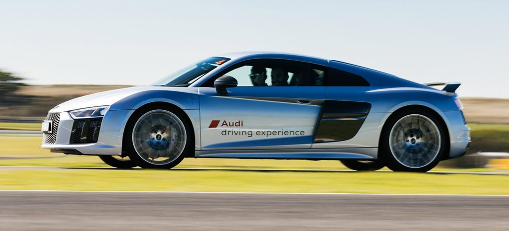 Professional driver training Audi R8 V10 Plus track news