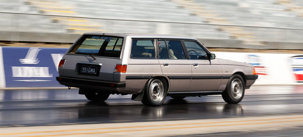 LS-swapped Mitsubishi Sigma sleeper wagon coming to Drag Challenge Weekend 2019