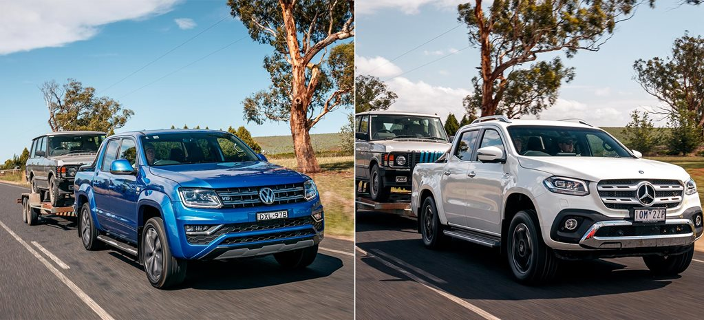 2019 Volkswagen Amarok 580 vs Mercedes-Benz X350d tow test comparison