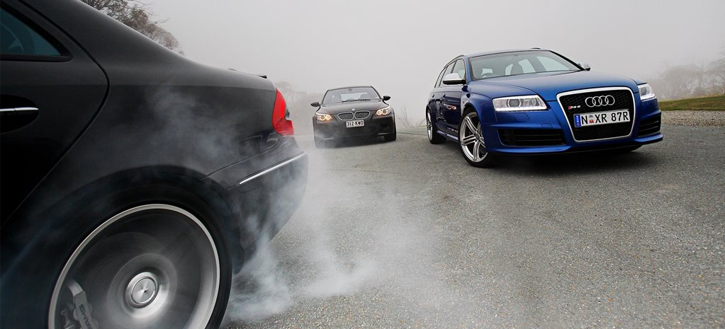 2008 Audi RS6 Avant vs BMW M5 vs Mercedes-Benz E63 AMG comparison feature