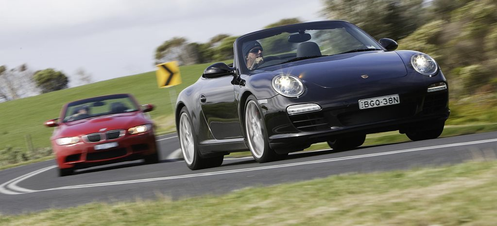 2008 BMW E92 M3 Convertible vs Porsche 997 911 Carrera S Cabriolet comparison review: classic MOTOR
