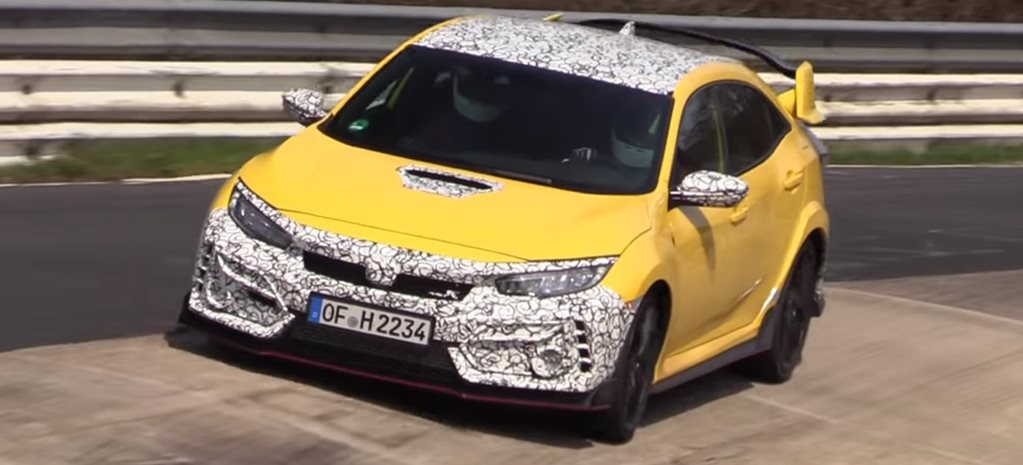2020 Honda Civic Type R Nurburgring spy footage news