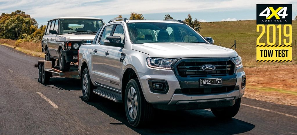 Ford Ranger 3.2 load and tow test review: Tow Test 2019