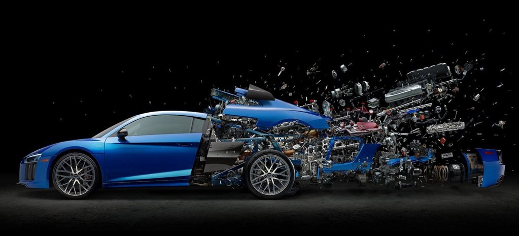 Exploded Audi R8 V10 incredible detail news
