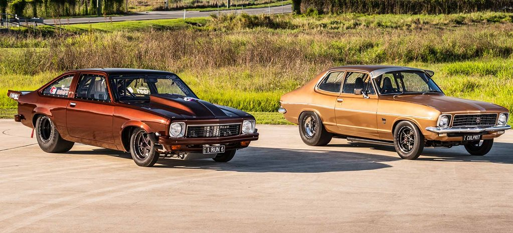 Turbo 1972 Holden LJ Torana + turbo big-block 1977 LX Torana