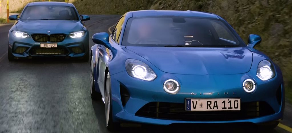 Alpine A110 vs BMW M2 Competition video comparison