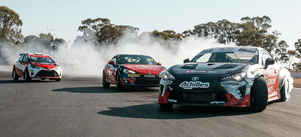 Toyota Motorsports 86 Racing Series vs 86 drift car vs Yaris AP4 Rally