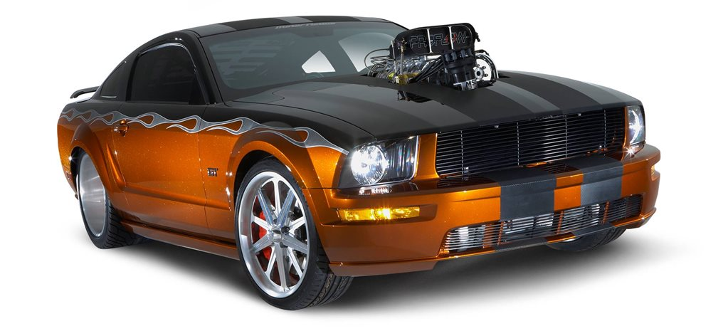 Gary Myers's blown 2005 Ford Mustang GT '2INSANE' - flashback
