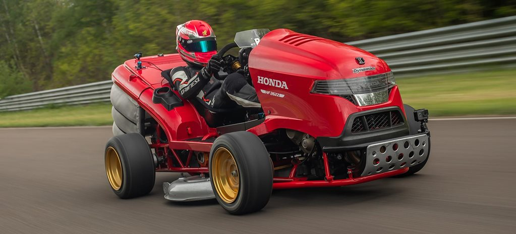 Honda Mean Mower V2 Fastest Lawnmower Acceleration record news