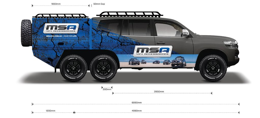 MSA 4x4 Custom Toyota LandCruiser 200 6x6: part 1