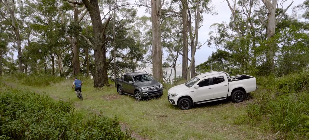 Volkswagen Amarok V6 vs Mercedes-Benz X350d comparison video