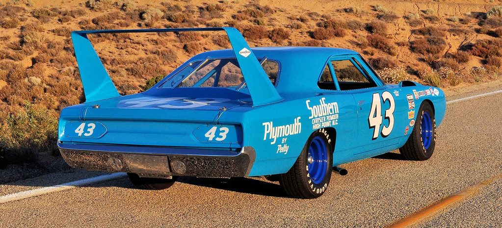 1970 Plymouth Superbird NASCAR tribute - flashback