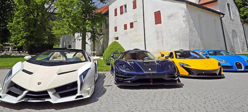 A booty of hypercars seized by authorities is now up for auction
