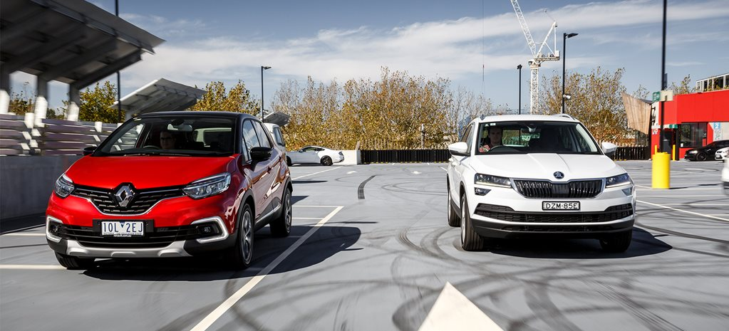 Skoda Karoq vs Renault Captur twin test comparison