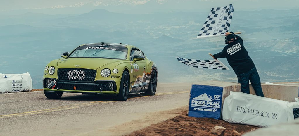 Bentley Continental GT Pikes Peak production car record news