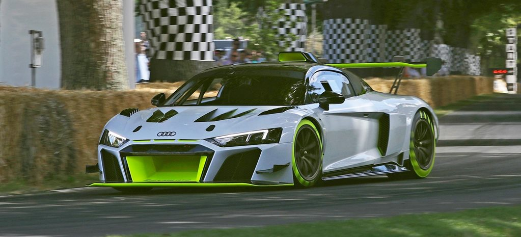 2020 Audi R8 LMS GT2 makes noisy Goodwood debut