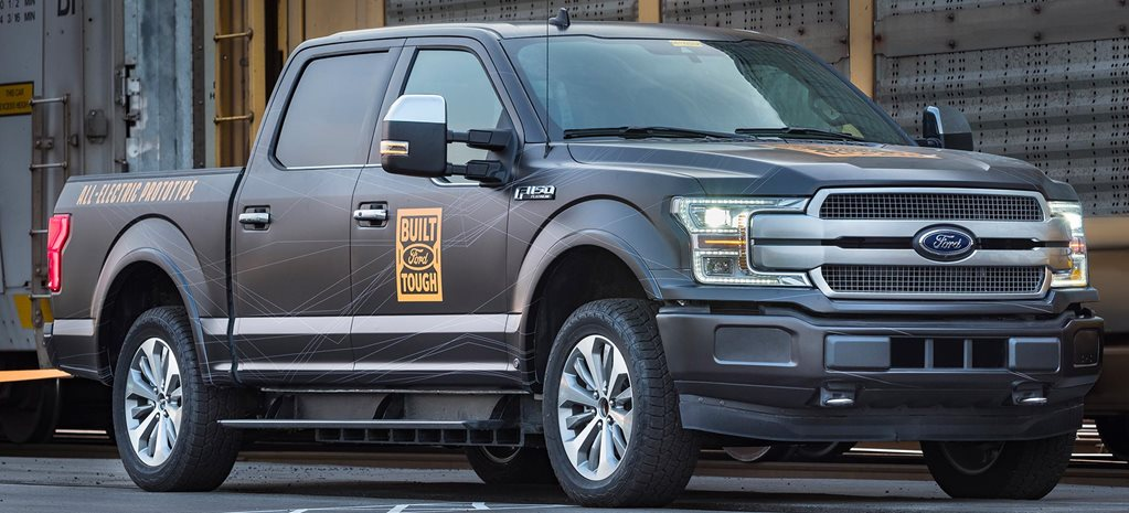 All-electric Ford F-150 prototype tows rail cars news