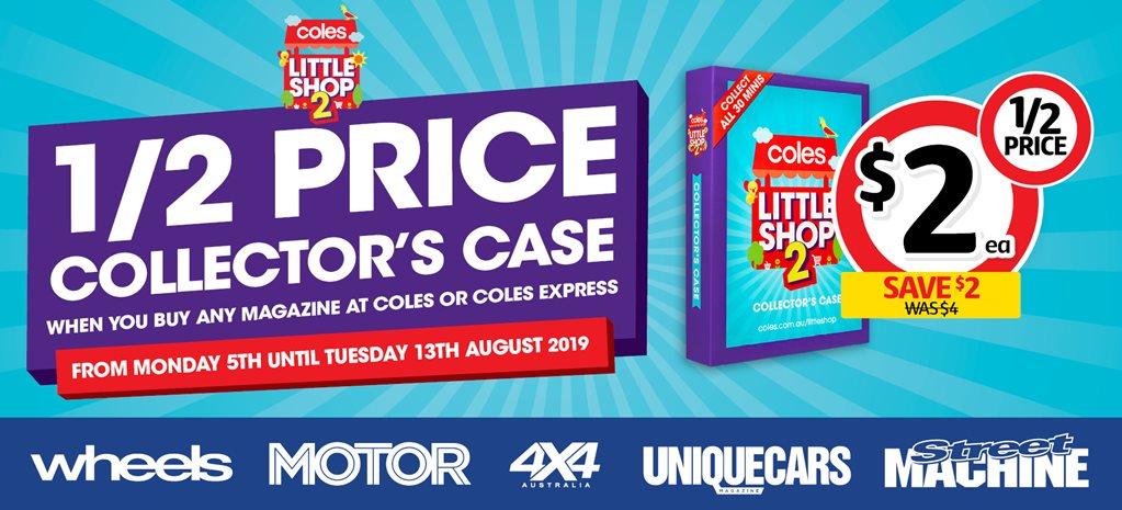 wholesale dealer 395d3 98ec0 Half price Coles Little Shop Collector Case | Special Offer