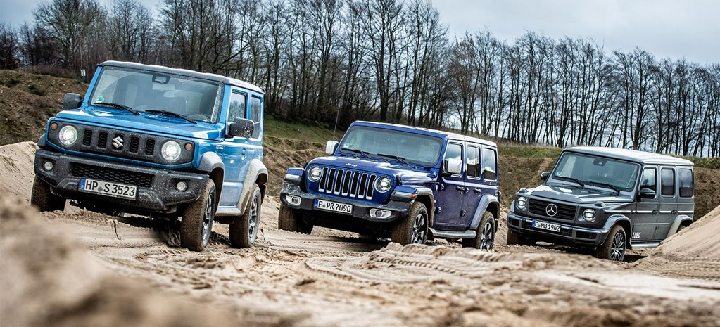 2019 Suzuki Jimny vs Jeep JL Wrangler Rubicon vs Mercedes-Benz G-Class 4x4 comparison review feature