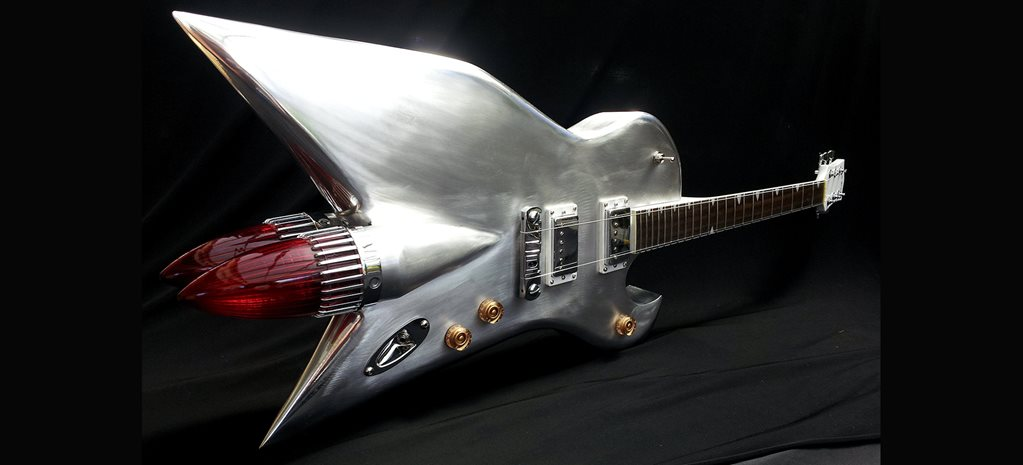 Dave Gartland's hand-crafted aluminium custom guitars -flashback