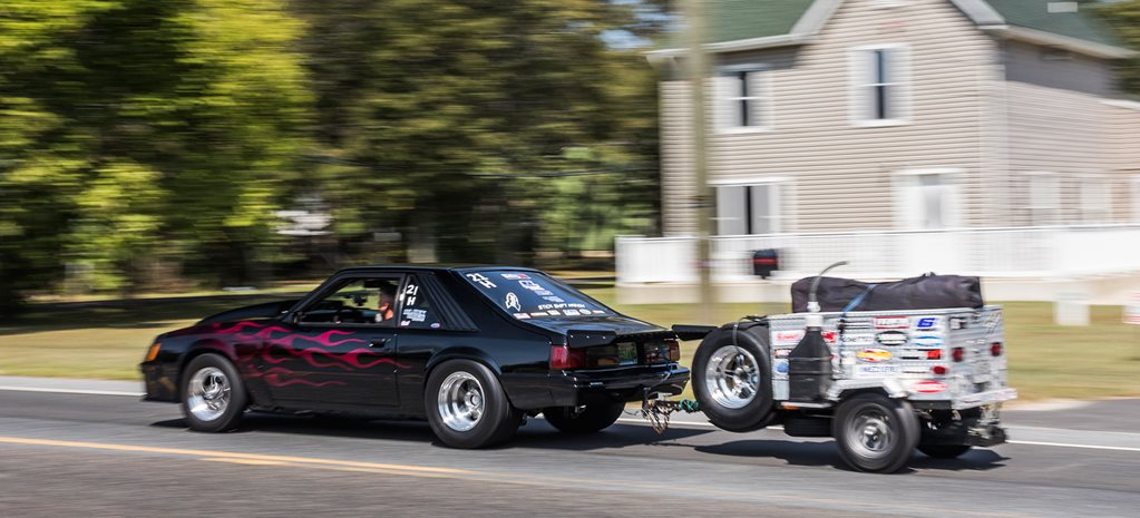 Normally-aspirated LS powered Fox Body Mustang at Drag Week