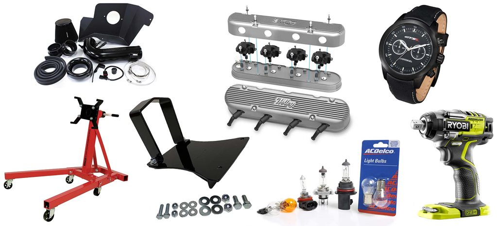 New street machine gear: HSV watch + engine stand + Holley rocker covers + more