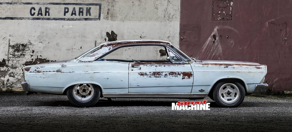Two-door Ford Fairlane built for Drag Challenge 2019