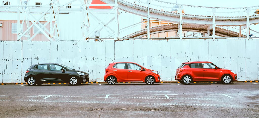 Kia Picanto GT vs Suzuki Swift GL Navigator vs Renault Clio Life Comparison