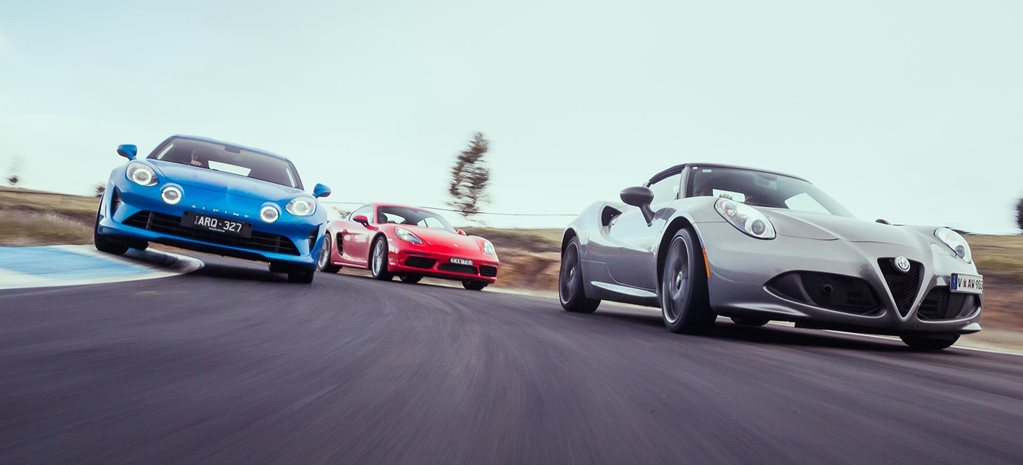 Alpine A110 vs Porsche 718 Cayman vs Alfa Romeo 4C Spider comparison review feature