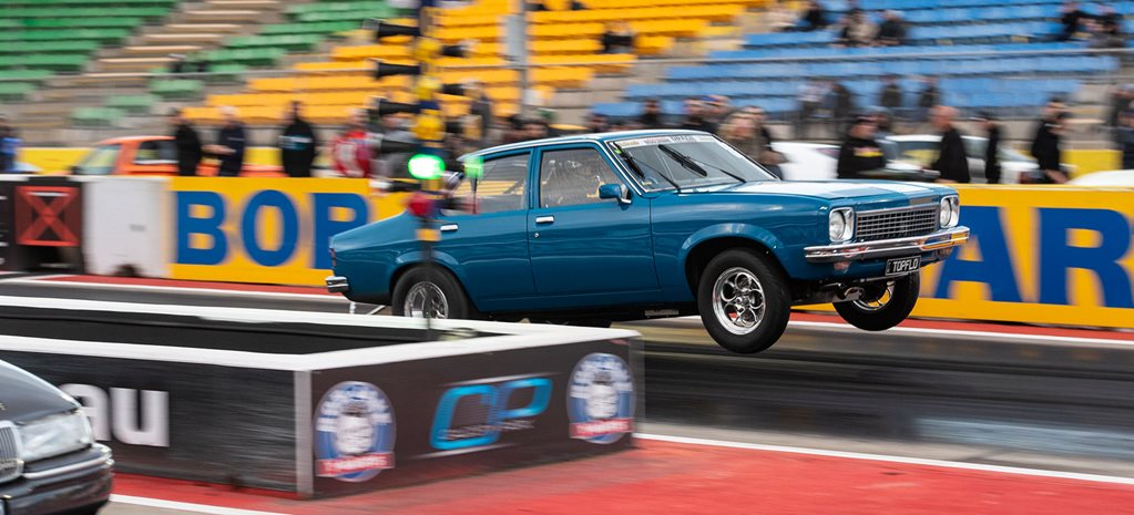 Turbo small-block Chev-powered LH Torana at Drag Challenge 2019