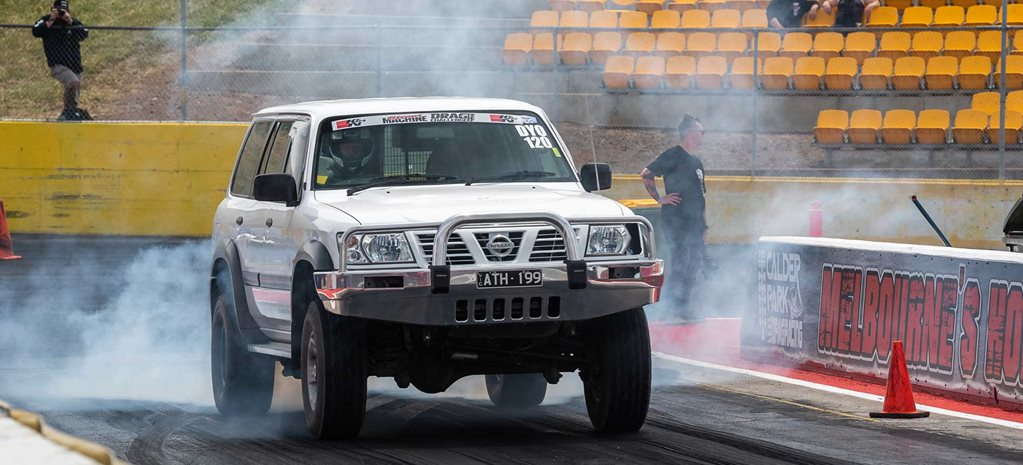 Geoff Stone's 2000 L98-powered Nissan Patrol at Drag Challenge 2019
