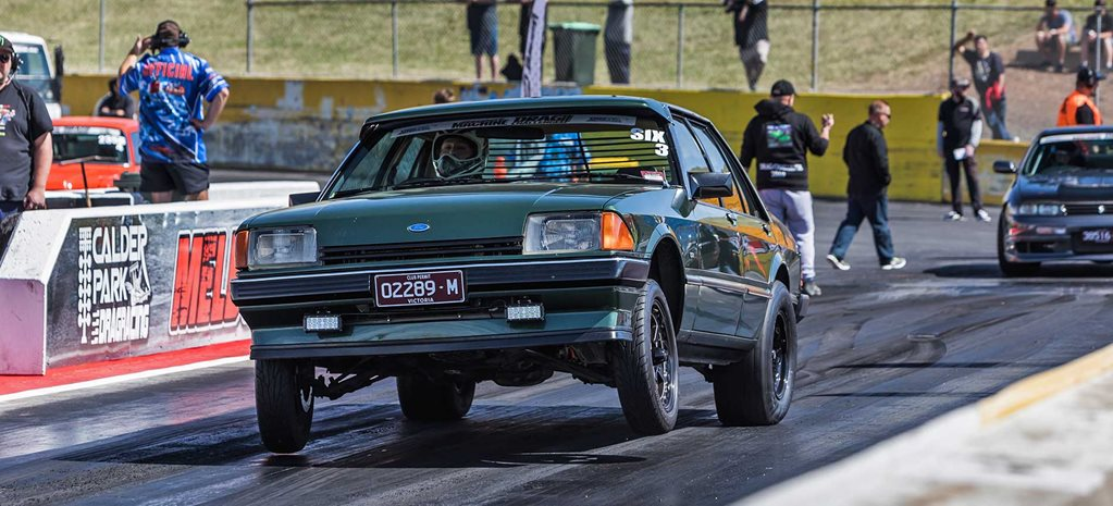 Glenn Richards's Barra-powered 1984 Ford XE Falcon at Drag Challenge 2019