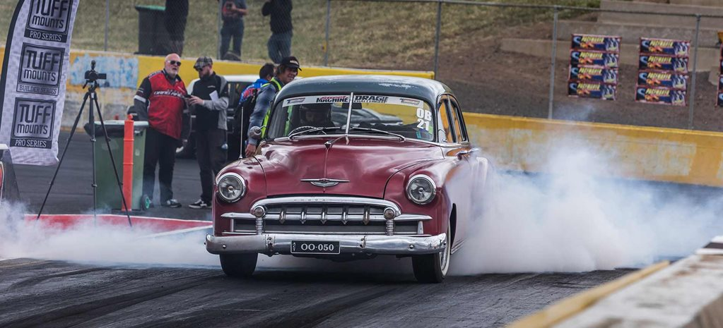 John Whyte's LS-powered 1950 Chevrolet Fleetline at Drag Challenge 2019